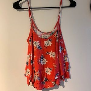 Hollister Pink Floral Top